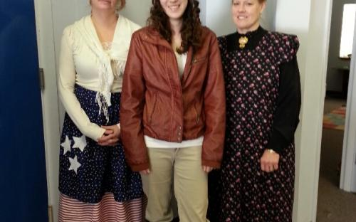 Betsy Ross, Amelia Earhart and Clara Barton