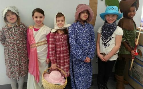 Laura Ingalls, Queen Esther, Mary Ingalls, Laura Ingalls Wilder, Annie Oakley and Robin Hood