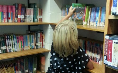 Chapter books interest this third grader.